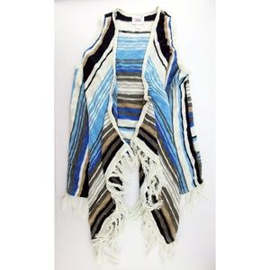 💥 3/$25 Justice Fringed Sweater Vest Waterfall